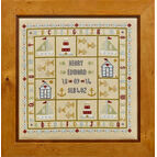 Four Boats Birth Sampler Cross Stitch Kit