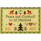 Peace And Goodwill Cross Stitch Kit