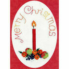 Fruit With Candle Christmas Card Cross Stitch Kit