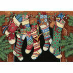 The Stockings Were Hung Cross Stitch Kit
