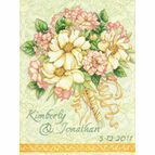 Wedding Record Bouquet Cross Stitch Kit