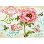 Live, Love, Laugh Cross Stitch Kit