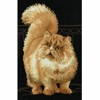 Persian Cat Cross Stitch Kit