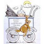 Buggy Boy Birth Sampler Cross Stitch Kit