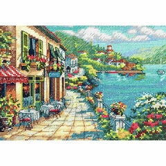 Overlook Cafe Cross Stitch Kit
