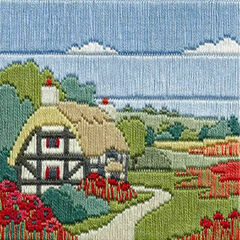 Poppy Cottage Long Stitch Kit