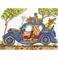 Cut Thru' Vintage Car Cross Stitch Kit