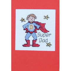 Super Dad Cross Stitch Card Kit