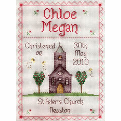 Girl Christening Cross Stitch Kit