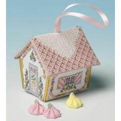 Sugared Almonds Gingerbread House 3D Cross Stitch Kit