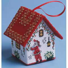Decorating Santa House 3D Cross Stitch Kit
