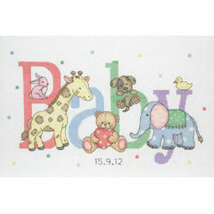 Baby Animals Birth Sampler Cross Stitch Kit