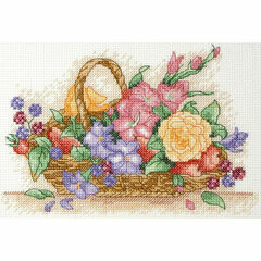 Flower Basket Cross Stitch Starter Kit