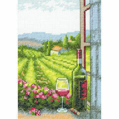 Wine With A View Cross Stitch Kit