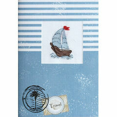 Boat Cross Stitch Card Kit