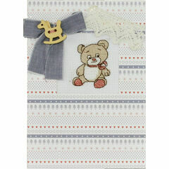 Rockinghorse Bear Cross Stitch Card Kit