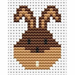 Easy Peasy Bunny Head Cross Stitch Kit