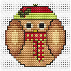 Christmas Twitt Cross Stitch Card Kit