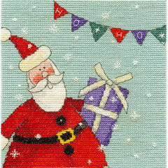 Santa With Bunting Cross Stitch Kit
