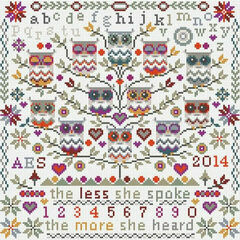 Owls Sampler Cross Stitch Kit