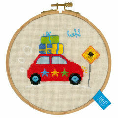 Holiday By Car II Cross Stitch Hoop Kit