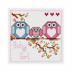 The Twitts Baby Girl Cross Stitch Card Kit