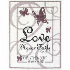 Love Never Fails Cross Stitch Kit