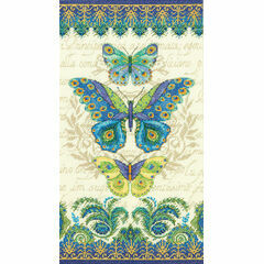 Peacock Butterflies Cross Stitch Kit