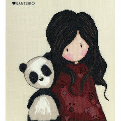 Gorjuss Panda Girl Cross Stitch Kit