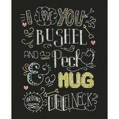 Hug Chalkboard Cross Stitch Kit