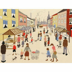 Lowry - The Friday Market Cross Stitch Kit