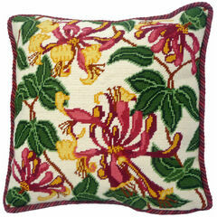 Pink Honeysuckle Tapestry Cushion Front Kit