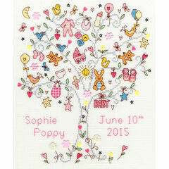 Love Baby Girl Cross Stitch Kit
