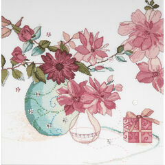 Pastel Floral Cross Stitch Kit