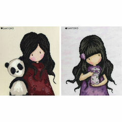 Gorjuss Panda Girl And We Can All Shine Set Of Two Cross Stitch Kits
