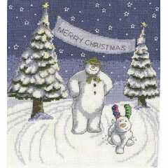 The Snowman & The Snowdog Merry Christmas Cross Stitch Kit
