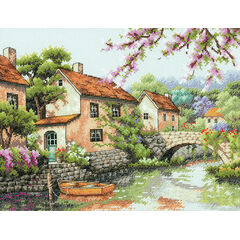 Village Canal Cross Stitch Kit