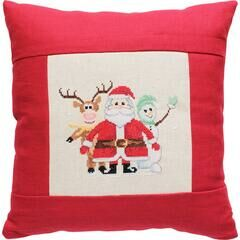 Snow Friends Cross Stitch Cushion Kit