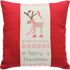 Merry Christmas Cross Stitch Cushion Kit