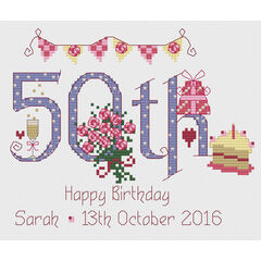 50th Birthday Cross Stitch Kit