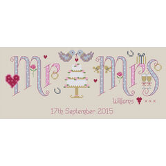 Mr & Mrs Cross Stitch Kit