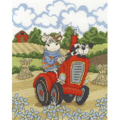 Cruising Cow Cross Stitch Kit