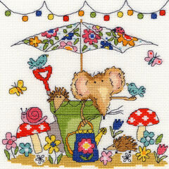 Garden Mouse Cross Stitch Kit