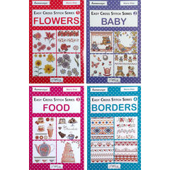 Easy Cross Stitch Series - Baby, Food, Borders & Flowers