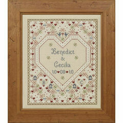 Confetti Wedding Sampler Cross Stitch Kit