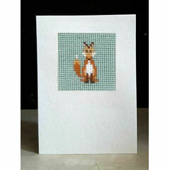 Foxy Whiskers Mini Beadwork Embroidery Card Kit