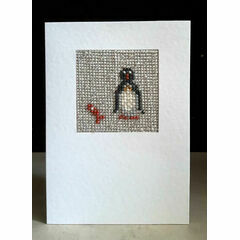 Bob The Penguin Mini Beadwork Embroidery Card Kit