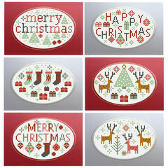 Merry Happy Christmas Card Kits (set of 6)
