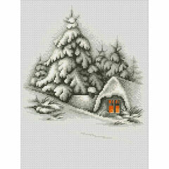 Winter Landscape Cross Stitch Kit