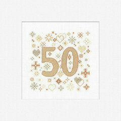 50th Celebration Cross Stitch Card Kit